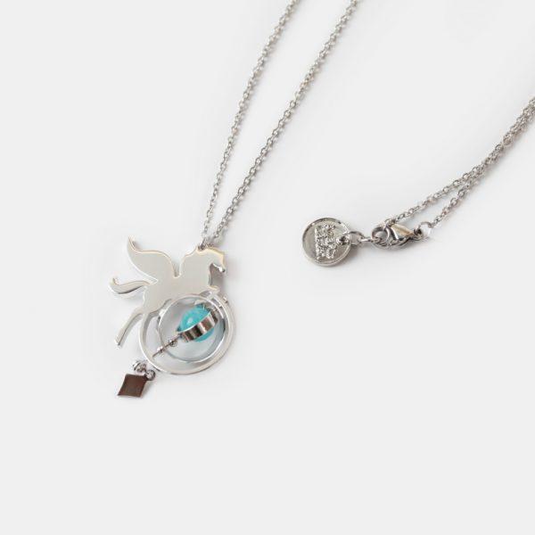 neck gold stainless steel 2D mini pegasus pendant necklace